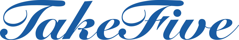 Take-Five-Schriftzug-blau