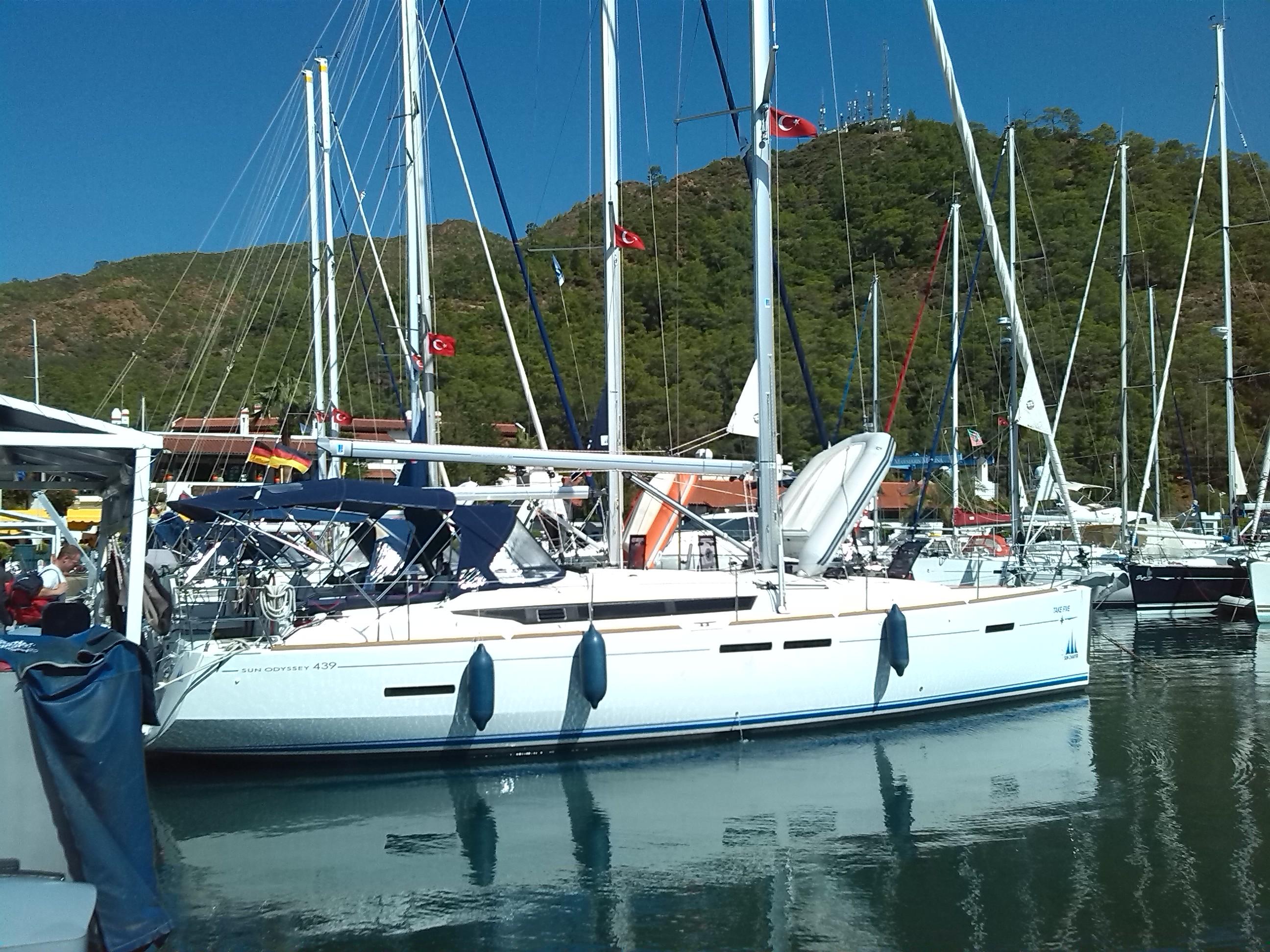 Take five im Hafen von Marmaris